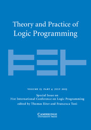 Theory and Practice of Logic Programming